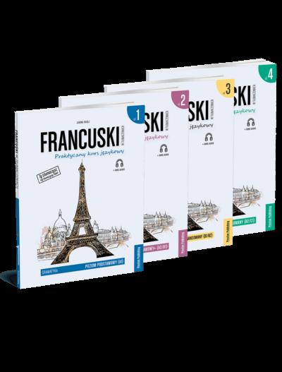Francuski w tłumaczeniach. Gramatyka 1-4 (komplet)
