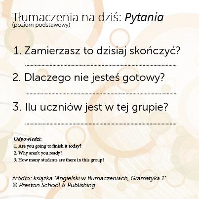 Poćwicz angielski – przetłumacz i sprawdź odpowiedzi